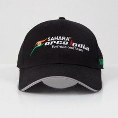 Sahara Force India Formula 1 F1 2017 Team Adjustable Black Hat