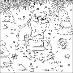 Dot puzzles coloring pages Christmas Maze, Christmas Drawing, Christmas Colors, Kids Christmas, Christmas Crafts, Colouring Pages, Free Coloring, Coloring Pages For Kids, Coloring Books