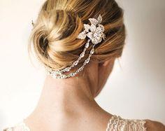 Boho bridal hair chain Bridal Hair Wrap Floral by LottieDaDesigns