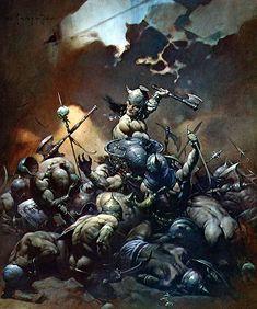 Frank Frazetta - Conan le destructeur