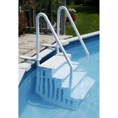 how to construct above ground pool stairs httpwwwsbadventures