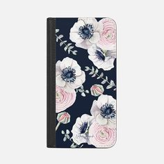 Navy Blossom Flower Love by Nature Magick - Navy Pink Pastel Floral