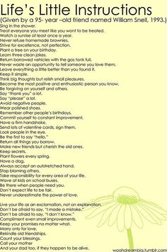 Instructions from a 95 year old man. - Click image to find more Humor Pinterest pins