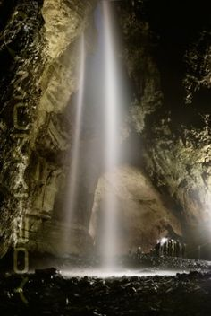 Waterfall in Gaping Gill Cave System ~ North Yorkshire, England