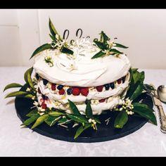 3 tiered Pavlova to celebrate My husbands 50th