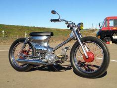 bmc honda cub- or this- matt Honda Cub, C90 Honda, Honda Ruckus, Honda Custom, Custom Moped, Custom Bikes, Scooters, Moped Motorcycle, Honda Passport