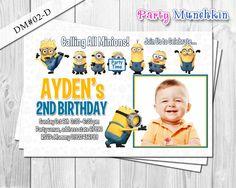 Minion photo invitation, Despicable Me photo invite, Minions card for Despicable Me birthday party - DIY Printable