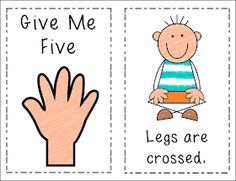 "Classroom Management {book to go with circle time ""give me five"" rules) Classroom Behavior Management, Classroom Organisation, Classroom Rules, Kindergarten Classroom, Behaviour Management, Classroom Ideas, Classroom Displays, Give Me Five, Give It To Me"