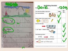 Using Seesaw and PicCollage for self-editing and peer-editing.