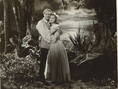 High resolution of an original, vintage photo of Jeanette MacDonald and Nelson Eddy in a deleted scene from New Moon (1940) - ESCANO COLLECTION