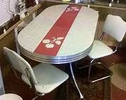 retro red kitchen table and chairs - Bing Images