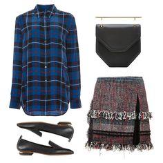Get Her Look - Consider asilk button-upthepolishedalternative to a plaid flannel.