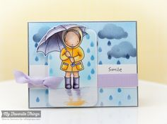 I Pick You, Sunny Thoughts, Cloudy Day Stencil, Raindrops Stencil - Sherrie Siemens #mftstamps