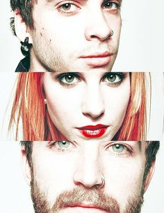 Taylor, Hayley, and Jeremy. The remaining band members before they broke up.