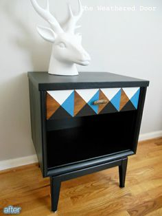 Better After - maybe not the painted head, but i like this end table