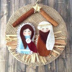 Nacimiento en Gruta / Natividad de la navidad ornamento arbol