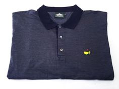 Augusta National Clubhouse Collection Masters Golf Polo 2XL Blue Short Sleeve #ClubhouseCollection #PoloRugby