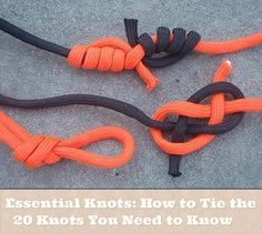 Essential Knots: How to Tie the 20 Knots You Need to Know If you are like me you never no the right note to use for different knots ,well this great page s