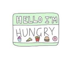 Hello I'm Hungry stickers featuring millions of original designs created by independent artists. White or transparent. Transparents Tumblr, Png Tumblr, Tumblr Drawings, Art Drawings, Tumblr Stickers, Image Name, Peyton List, Laptop Stickers, Journal Stickers
