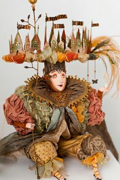 por PblCb Fairy World & Fantastic Creatures Keka❤❤❤ Marionette, Clay Dolls, Dolls Dolls, Spirited Art, Painting Collage, New Dolls, Assemblage Art, Little Doll, Whimsical Art