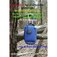 When you buy a Z.A.P.S. Gear Survival Grenade using promo code DISASTERSURVIVAL you'll get free priority shipping and a free 1 year subscription to Disaster Survival Magazine. Only at www.zapsgear.com. Come get yours today.