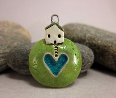 Tears of a Mother...Planet Pendant by elukka...Stoneware&Recycled Glass by elukka on Etsy https://www.etsy.com/listing/525100780/tears-of-a-motherplanet-pendant-by