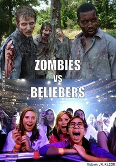 Batallas Ficción: Zombies VS Beliebers