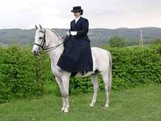 Side saddle - such an elegant way of riding, and surprisingly comfortable!