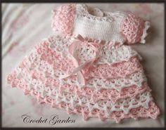 Pink dress for babies   MY WORLD CRAFT graph