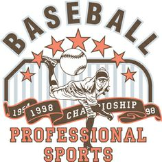 Professional Sports Baseball Graphic is completely and instantly customizable in CorelDraw or Illustrator! Baseball Vector, Sports Team Logos, Sports Baseball, Coreldraw, Vector Design, Illustrator, Shirt Designs, Underwear, Prints