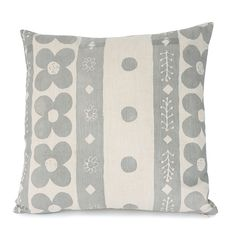 Epping Smith - Hand Printed Cushion Flora I Light Grey Hand Printed Fabric, Printed Cushions, Printing On Fabric, Linen Fabric, Cotton Linen, Flora, Interior Decorating, Product Launch, Throw Pillows