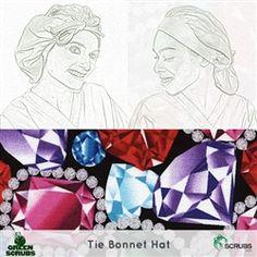 Limited Edition: Green Scrubs - Tie Bonnet Hat - Jewels