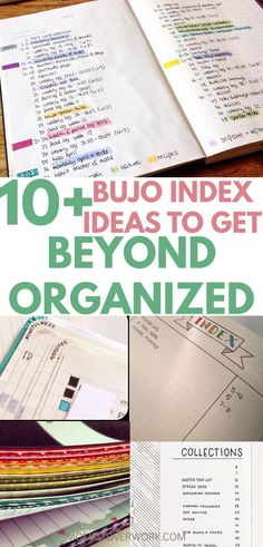 10 bullet journal index ideas examples to get beyond organized atop hacks with washi tape, color coding highlighting, and shortcuts