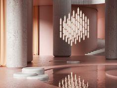 Rakumba + Sebastian Herkner Sebastian Herkner, Wall Lights, Ceiling Lights, Global Design, Modular Design, Beautiful Curves, Commercial Design, Wall Sconces, Branding Design