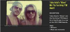 """20.06.2013 """"Aliens"""" Tokio Hotel ganha o Prêmio Fan Army FTW pelo quarto ano consecutivo no  OMA Awards 2013"""
