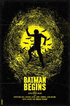 Remarkable Minimal Movie Posters / Batman Begins