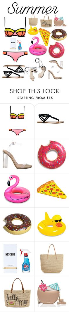 """""""Summer"""" by marias1808 ❤ liked on Polyvore featuring interior, interiors, interior design, home, home decor, interior decorating, WithChic, Sole Society, 3.1 Phillip Lim and YEEZY Season 2"""