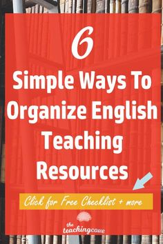 Want to finally get organized this year? Here are 6 simple ways to organize your English teaching resources? Need English teaching printables for your classroom or your tutoring lessons? Join The Teaching Cove's community to access free monthly printables English Teaching Materials, English Teaching Resources, Teaching Methods, Teaching Grammar, Teaching Technology, Study Skills, Online Programs, English Lessons, Wordpress