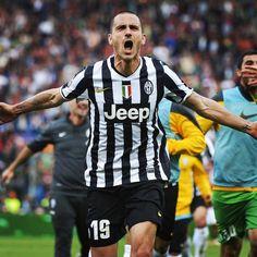 Leo Bonucci 19 esultanza gobba #roma-Juve