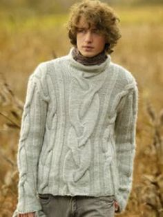 live.love.knitting: Men's sweater - Maglia da uomo a trecce