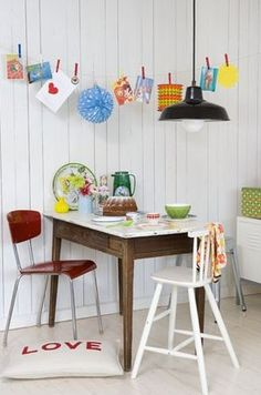 Colourful dinning room
