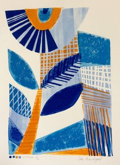 Eden Linocut and Mono Original Print by Zebedeeprint on Etsy