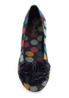 Cake Pop Party Flat in Navy - I'll wear these on days when I'm not wearing my orange shoes!