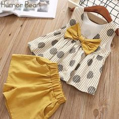 Girls-Summer-Casual-Elegant-Comfy-Suit-Set-Kids-Clothes clothing fashion Girls Summer Clothes Casual Suit Elegant Comfy Set Pink And Yellow Girls Summer Outfits, Little Girl Outfits, Little Girl Dresses, Baby Outfits, Little Girl Clothing, Girls Casual Dresses, Baby Dresses, Summer Girls, Baby Girl Fashion