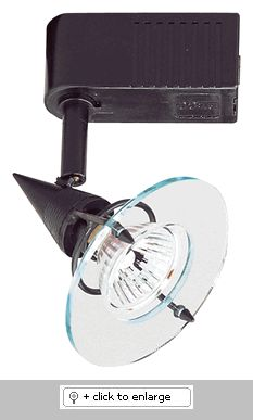"""Low Voltage High Tech Europe Fixture    Use with single or two circuit track & accessories  Lamp: 50W 12V MR16    Dimension: L X W:4 1/2"""" x 4""""  Regular price: $72.50  Sale price: $40.99"""