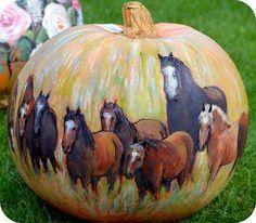 #Horse pumpkin!
