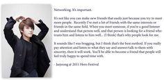 Jaejoong on Networking