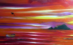 Tarde de playa / óleo sobre lienzo / 170x80 cms