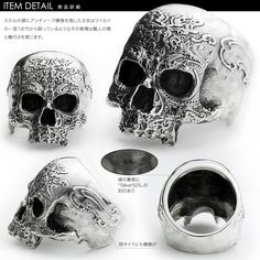 Rakuten: Antique scull ring silver ring men lapping free of charge - Shopping Japanese products from Japan