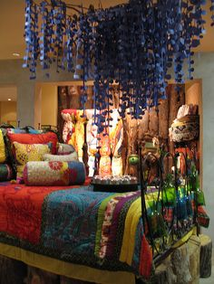 Love this bohemian decor